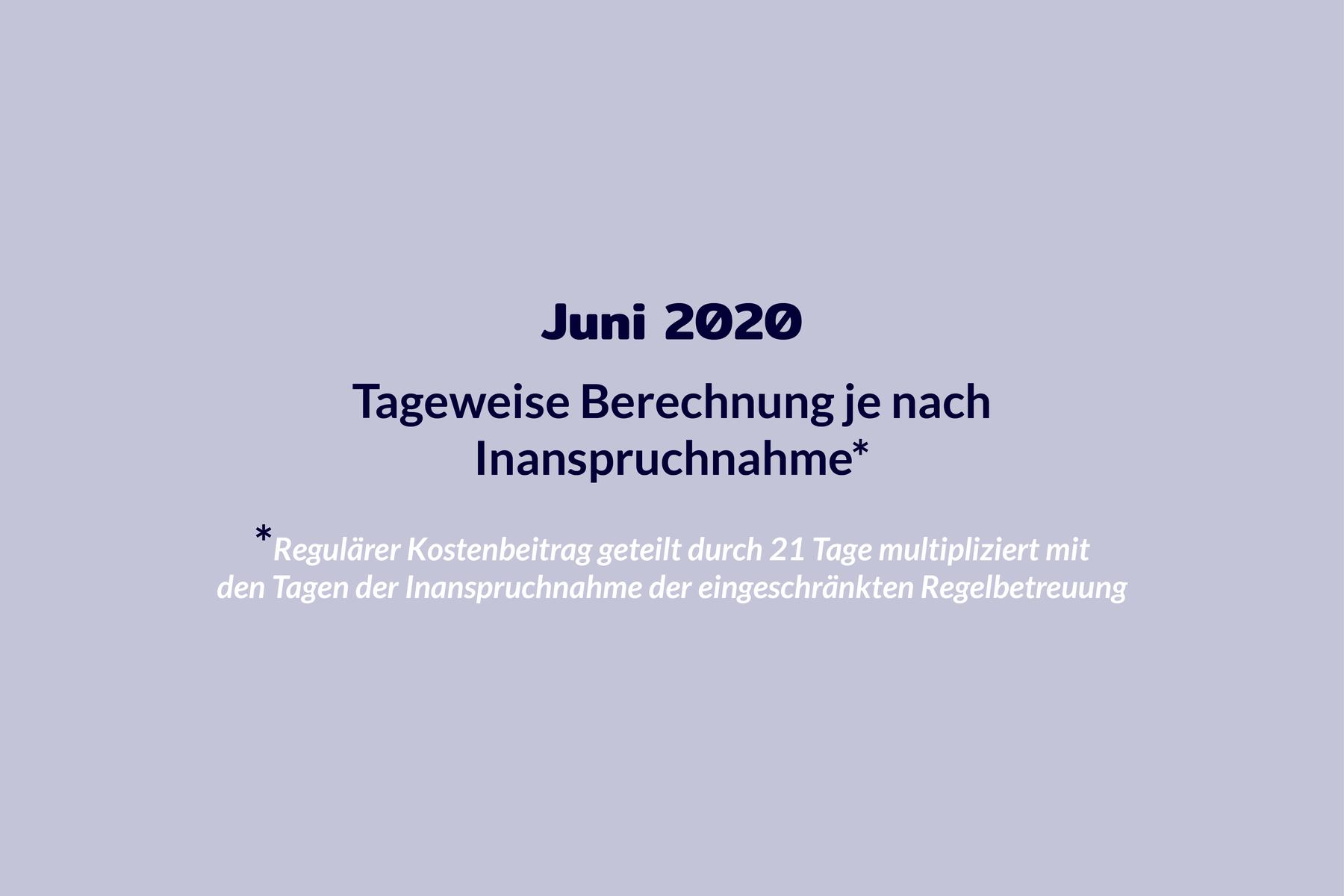 Chronologie Kosten Juni 2020